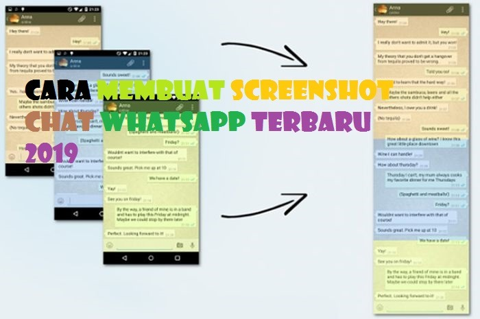 Cara Membuat Screenshot Chat Whatsapp Terbaru 2019